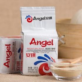 安琪低糖高活性干酵母(白色装)100克(g)/袋 包子馒头酵母