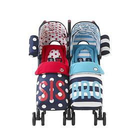COSATTO卡萨图双胞胎婴儿推车可折叠轻便儿童手推车双人车