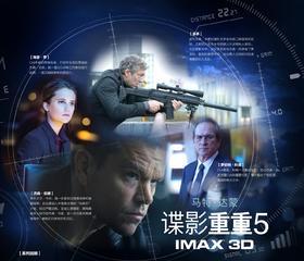 IMAX3D《谍影重重5》万达全国通用电子兑换码【限购一张多拍作废】