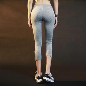 女子紧身速干排汗健身七分裤