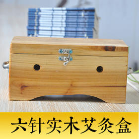 养和居 6针实木制大艾灸盒温灸仪腹部背部熏艾条工具艾灸箱器具