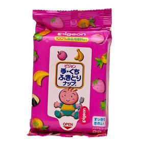 日本原装贝亲Pigeon婴儿手口专用清洁湿巾随身便携装湿巾 22枚
