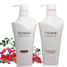 日本进口丝蓓绮TSUBAKI资生堂白椿洗发水护发素套装
