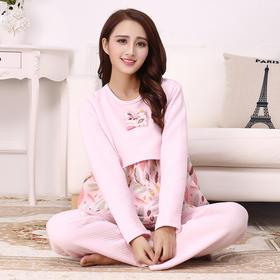 【孕妇装】秋冬空气层月子服 保暖加厚防风哺乳孕妇装 纯棉睡衣