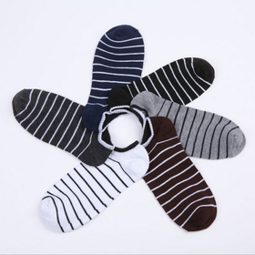 8双日韩男士条纹袜子 休闲成人船袜 爆款热卖 颜色随机  【24小时闪电发货】