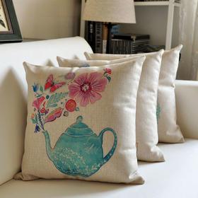 欧式风亚麻抱枕含枕芯枕套(沙发靠垫、办公室抱枕)款式随机