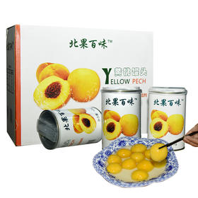 【北果百味】安徽砀山黄桃罐头精品装 每一颗都是大自然的恩赐 12罐装