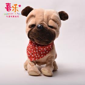 【为思礼】【玩具】。新款益智电动毛绒玩具可爱声控多功能电子狗儿童玩具