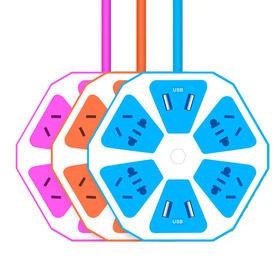 多功能创意智能USB插线板  纯铜线芯 高效安全充电
