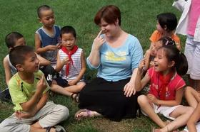 乐清中心公园亲子活动——和外教Liam一起体验户外英语场景教学