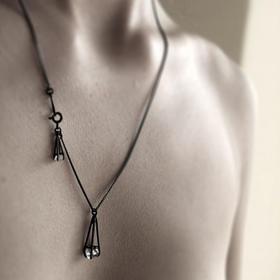 MIRTA 精品首饰氧化银大钻石系列|双钻石项链(克罗地亚)