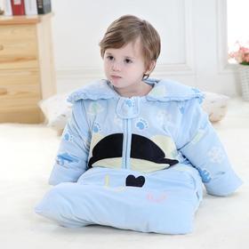【睡袋】宝宝睡袋婴儿睡袋0-4岁天鹅绒秋冬加厚加长款防踢被 儿童睡袋