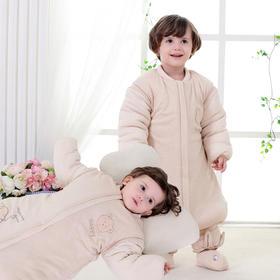 【睡袋】婴幼儿纯棉加厚保暖防踢被秋冬宝宝彩棉 男女童睡袋