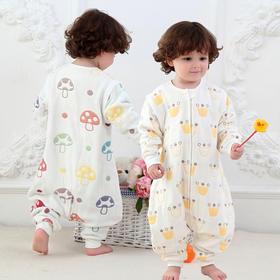 【睡袋】婴幼儿四季款男女宝宝六层纱布儿童纯棉防踢被分腿睡袋