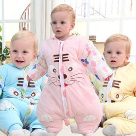 【睡袋】卡通纯棉儿童防踢被 婴幼儿秋冬季加厚保暖分腿宝宝睡袋