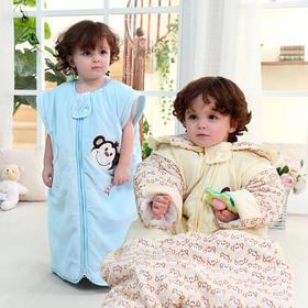 【睡袋】新生婴儿秋冬加厚纯棉防踢被 男女宝宝保暖信封式睡袋