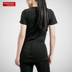 跑步指南3611 女款短袖运动T恤 - 后背扇形网眼透气