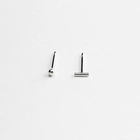 MIRTA 精品首饰纯银点与线设计耳钉(克罗地亚)