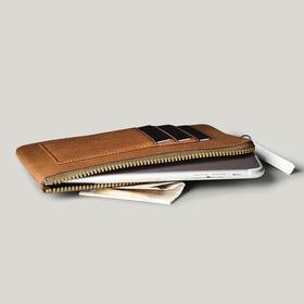 Hardgraft 拉链手机包零钱包卡包iPhone7/ 7Plus|褐色(英国)
