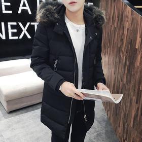 【羽绒服男】*.90%白鸭绒加厚羽绒服男中长款款款青少年冬装外套男韩版 | 基础商品