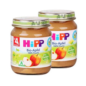 德国喜宝有机免敏苹果泥(4个月以上)125g/罐*2 Hipp