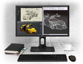 PD2700Q 27英寸 2K广视角 100%sRGB色域 CAD/CAM制图设计液晶显示器