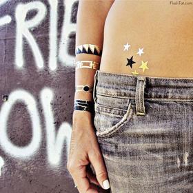 FlashTattoos最火金美纹身贴纸|坏女孩黑金套装(美国)