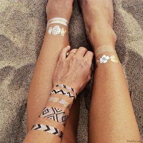 FlashTattoos最火金美纹身贴纸|夏威夷海公益套装(美国)