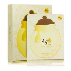 韩国春雨papa recipe保湿补水蜂蜜面膜10片/盒蜂胶蜜罐蚕丝