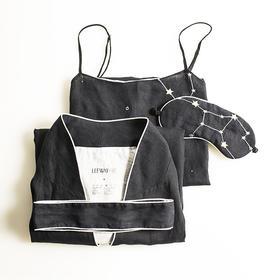 LEEWAY·谢 设计师原创品牌 星夜系列星座100%HEMP睡衣礼盒套装3件套