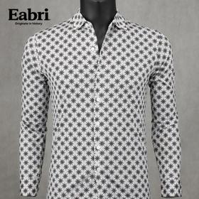 竹炭纤维棉男士商务休闲衬衫个性碎花纯棉衬衣