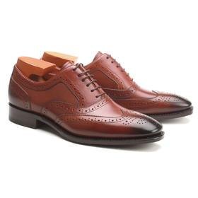 Eabri男士手工沿条缝正装皮鞋