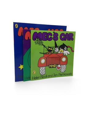 【英文原版】Meg and Mog 3册经典绘本