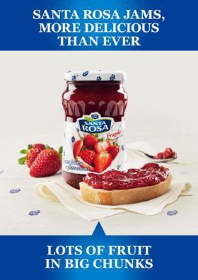 [超值特价]意大利原产 圣塔玫瑰纯果酱 多种口味可选350g 早餐伴侣