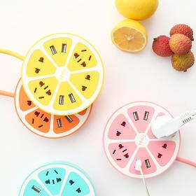 【包邮】创意柠檬带USB立式多孔插座   文具