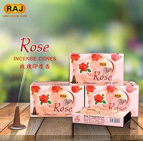 RAJ印度香 玫瑰ROSE 正品印度原装进口手工花香薰熏香塔香锥香187