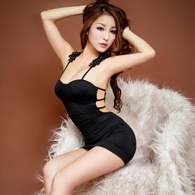 7150带胸垫短裙性感情趣内衣诱惑套装制服夜店