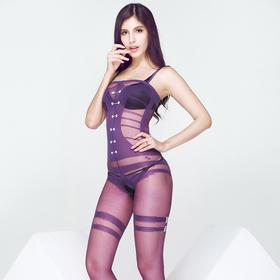 8823高档正品情趣内衣透视透明诱惑套装连裤袜女王装