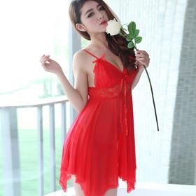 7082极度性感诱惑睡衣女式吊带透明情趣睡裙