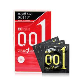 日本进口 冈本001安全避孕套超薄3只装 幸福超薄0.01