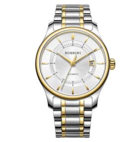 罗西尼(ROSSINI)手表 雅尊商务系列日历间金钢带自动机械男表