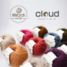 【云点】Tweed 粗花呢线 手编粗毛线 毛衣围巾线 编织人生出品 50克/团