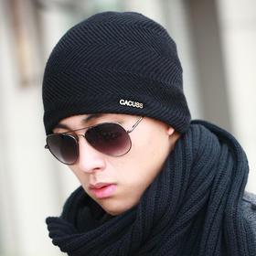 *羊毛帽子保暖帽包头帽毛线帽针织帽子男士秋冬天加绒加厚潮 | 基础商品