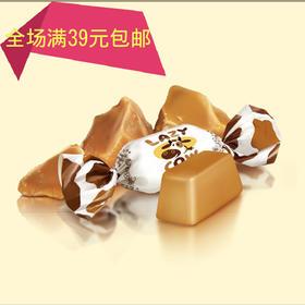 【满39元全国包邮】俄罗斯糖果乌克兰进口如胜小牛太妃特浓奶糖 鲜乳糖喜糖500g