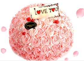 爱的花束~植脂奶油蛋糕