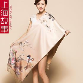 上海故事双层真丝围巾