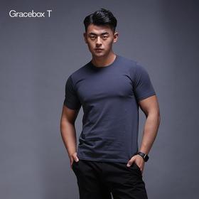 Gracebox 长绒棉 纯色男女士短袖圆领T恤  (热销爆款)