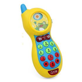 美贝乐彩蛙音乐手机:宝宝早教启蒙玩具电话机