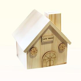 木制小木屋存钱罐