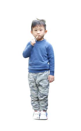 羊绒100% - 幼童圆领长袖套头衫 - L028